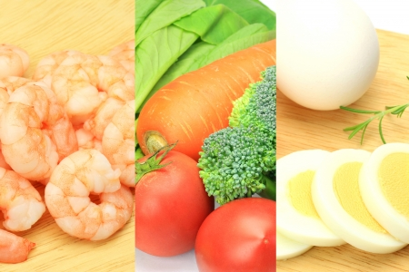 fishery products: I collected various foods and took it.
