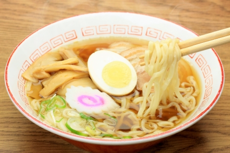 This is called ramen with Chinese food  Stock Photo