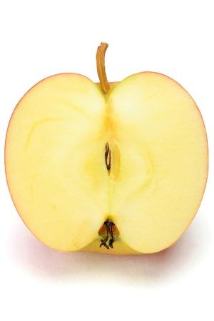 나는 흰 바탕에 사과를 가져 갔다.
