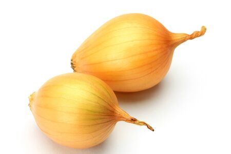 petit: two petit onions in a white background