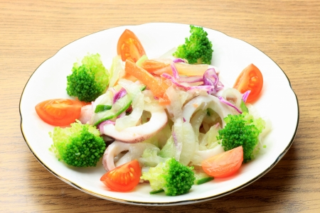 fishery products: I cooked marinade with a cuttlefish and vegetables.