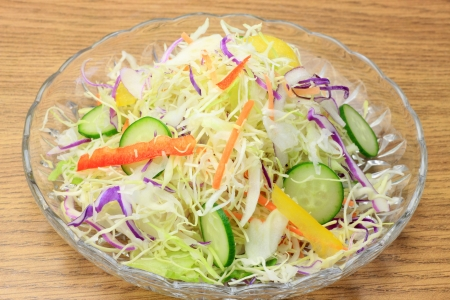 mixture: This is mixture salad using various vegetables  Stock Photo