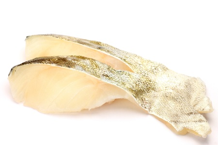 fishery products: I took two slices of cods in a white background.