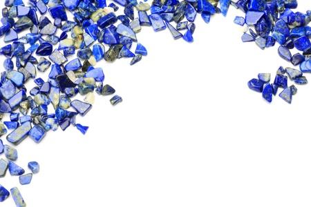 Lapis lazuli op een witte achtergrond Stockfoto