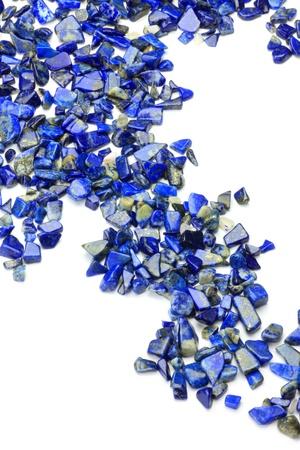 lapis: Lapis lazuli in a white background