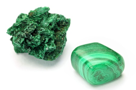 malachite: This is called malachite with a mineral  Stock Photo