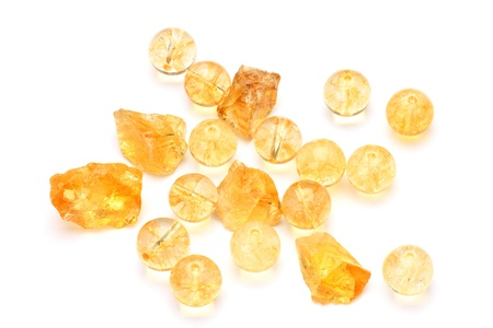 This is citrine of the natural stone.