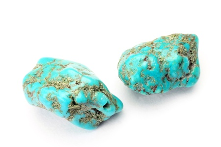 This is a turquoise of the natural stone. 版權商用圖片
