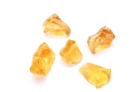 這是天然石材的黃水晶。