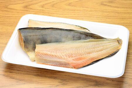 fishery products: This is Japanese food with a stripe Atka mackerel as drying in the sun  Stock Photo
