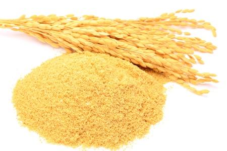 arroz: Esta es la comida japonesa en el salvado de arroz