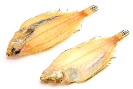fishery products: dried fish of the flatfish  Stock Photo