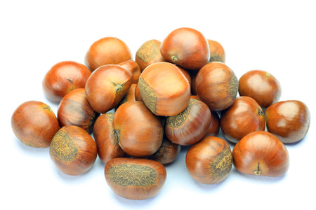 broiled: sweet broiled chestnut  Stock Photo