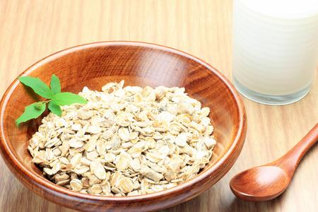 cereal and milk Archivio Fotografico