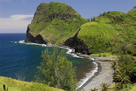 Kahakuloa Tall Lord eroded volcanic cinder cone on Maui