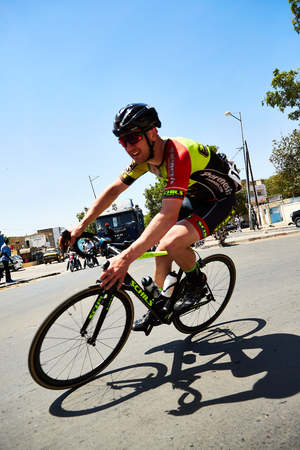 Tour du Senegal 2017 from Dakar to Dakar 8 Stages WInner Islam Mansouri. Editorial