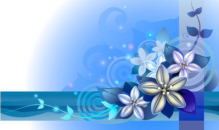deep blue: abstraction a flower background, a background for the text. objects are grouped for convenience. EPS 10 Illustration