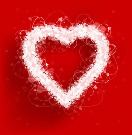 title emotions: Hearts frame Valentines day vector. Vector illustration