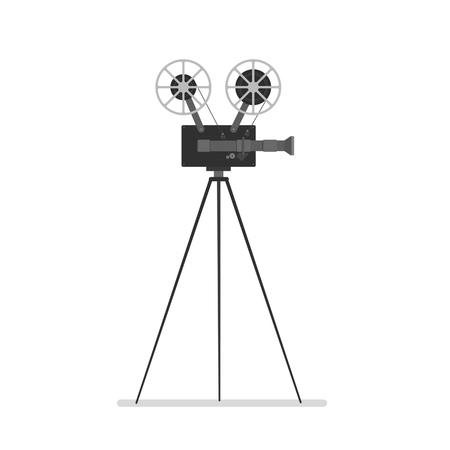 Vintage Kamera auf Stativ Standard-Bild - 76520186
