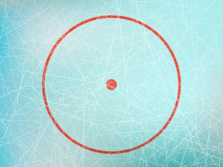 Circle on hockey rink