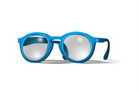 rim: Blue colored glasses