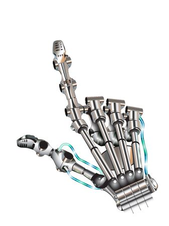Bionic hand pointing with index finger