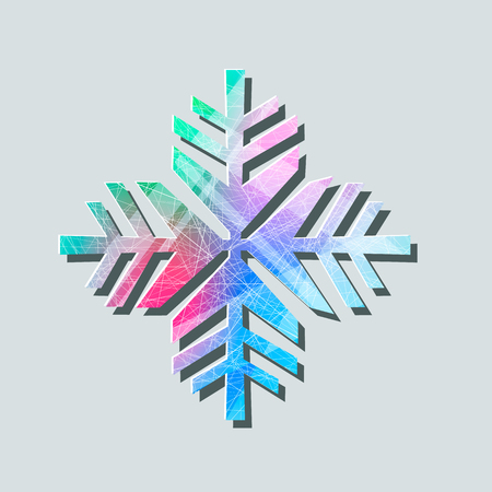 Cold symbol, Snowflake line icon, vector sign, linear colorful pictogram isolated on white illustration Illusztráció