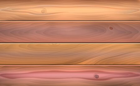 Vector illustration of rough wooden surface texture background. Illustration