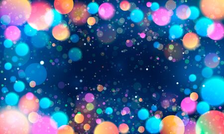 Colorful glittering light blots. Different colored glittering light stains on light background.