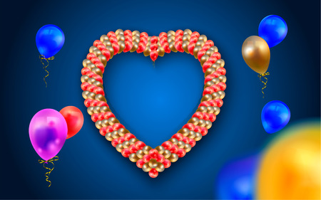 Heart frame with balloons 版權商用圖片
