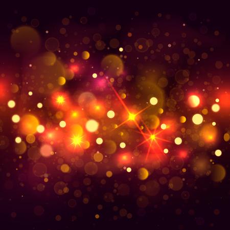 Glittering bokeh background. Illustration of glittering bokeh blots on dark background.
