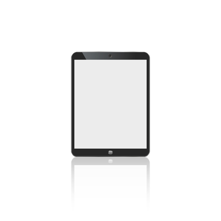 tablet in ipad style black color with blank touch screen isolated on white background. stock  illustration