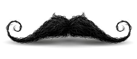 Perfekter Hipster-Schnurrbart. Abbildung mit Charme. Isoliert auf weißem Hintergrund Vektorgrafik