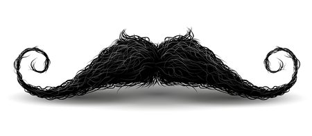 Perfect hipster mustache. Illustration with charm. Isolated on white background