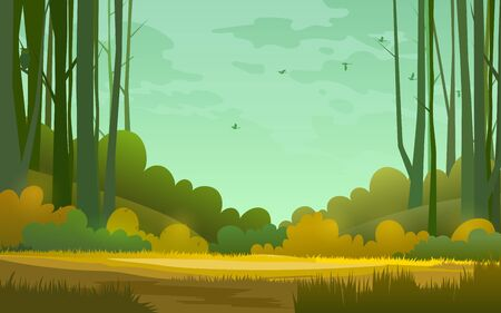 forest background. illustration of woods in forest background. 版權商用圖片