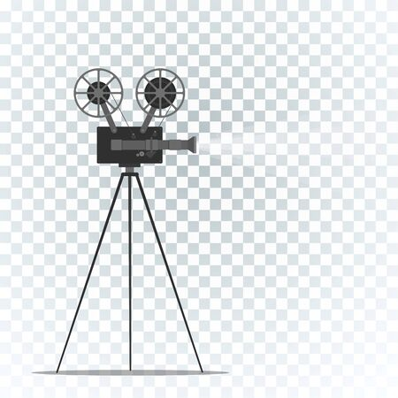 Film projector on grey 向量圖像