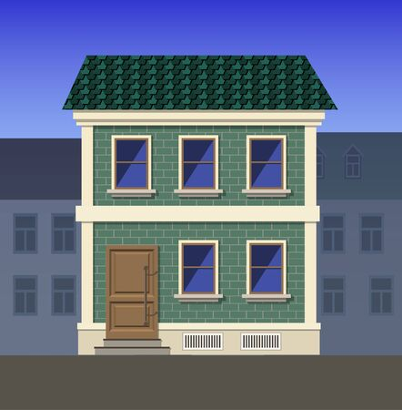 Two-storey brick house in a classical style. Ilustrace