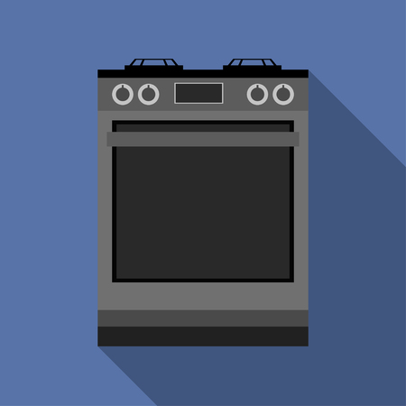 Kitchen gas stove. The household equipment. Vector illustration.