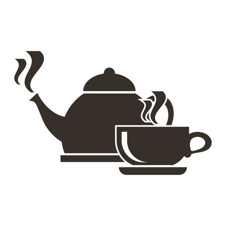 Icon of boiling kettle and cup of hot tea.