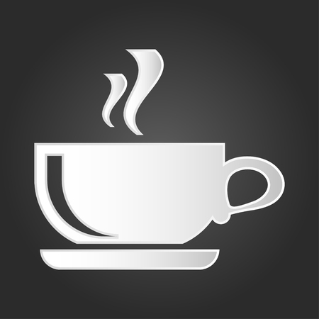 Coffee cup icon vector. Symbol for your web site design, logo, app, UI. Vector illustration, EPS