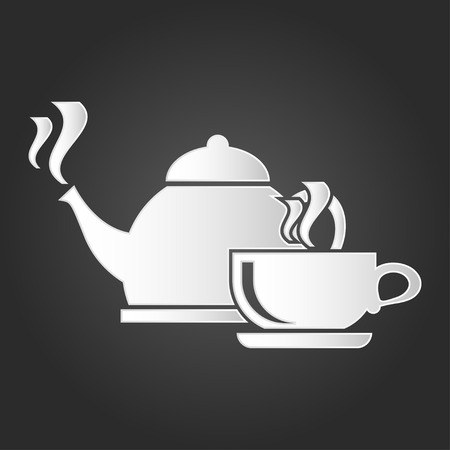 Cup with hot drink and boiling kettle icon vector. Symbol for your web site design, logo, app, UI. Vector illustration, EPS Illustration