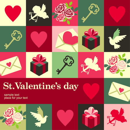 Valentines Design Template card  Vector background Vector