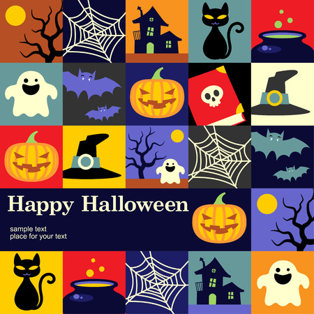 Happy Halloween holiday cute background for your design