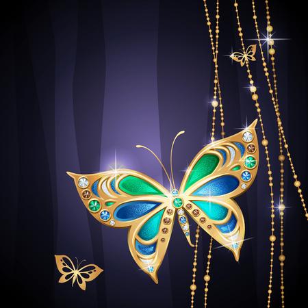 mariposa azul: Fondo azul con mariposas Glamour belleza joyería
