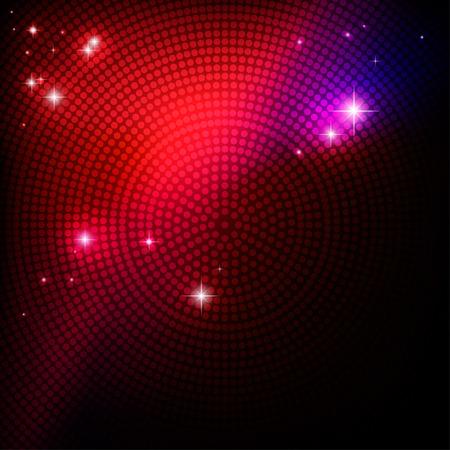 luz: Fondo abstracto del partido de disco para el diseño Ilustración