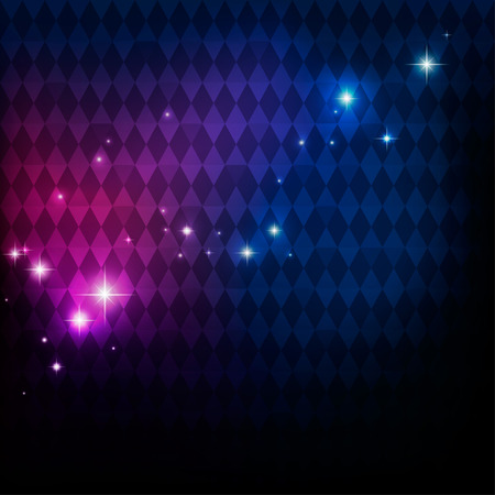 抽象的なディスコ パーティーの背景に幾何学的なパターン、点滅