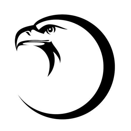 Stylized eagle head emblem illustration for your design