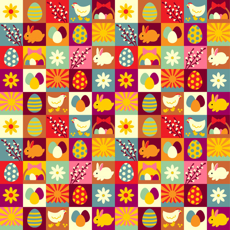 Easter seamless pattern for your design and decoration