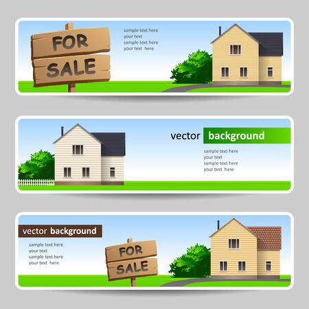 Satz von Banner für Immobilienunternehmen