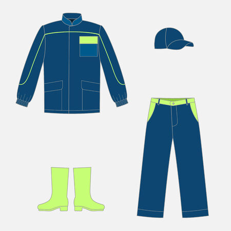protective workwear: Set of work wear for your design